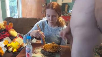 ignored cumshot into my dinner [oc]