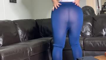 sheer blue leggings