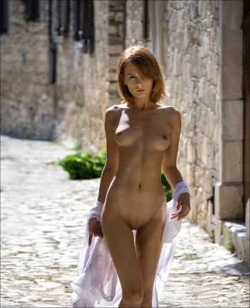 delightful damsel out for a stroll