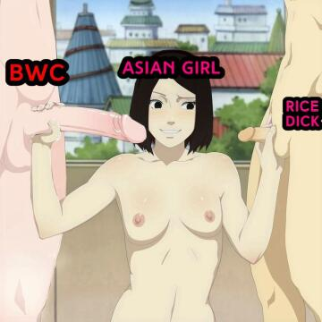if this was realistic, the rice dick would have came by her touch alone