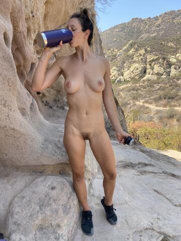 i've gotta stay hydrated on my hike
