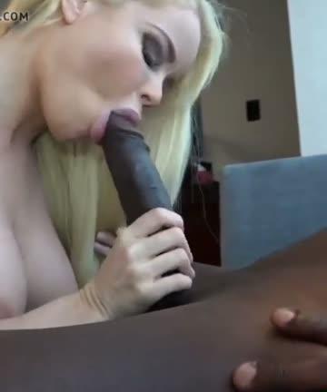 blonde girl suck a bbc