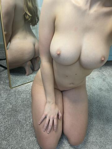 if you had to pick, do you like my pale titties or booty more? ;)