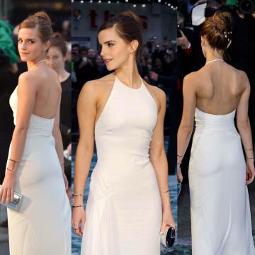emma watson's tight little body looks so fucking good in this dress