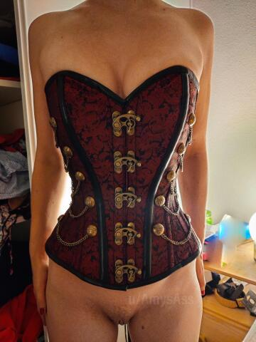 corsets make me feel so sexy! [oc]