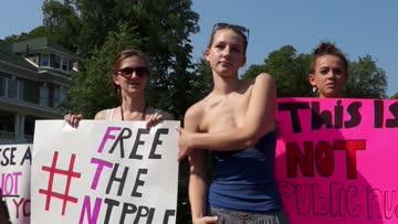 #freethenipple protest