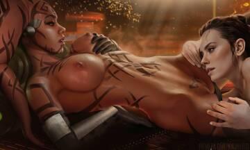 darth talon and rey (ninjart1st)