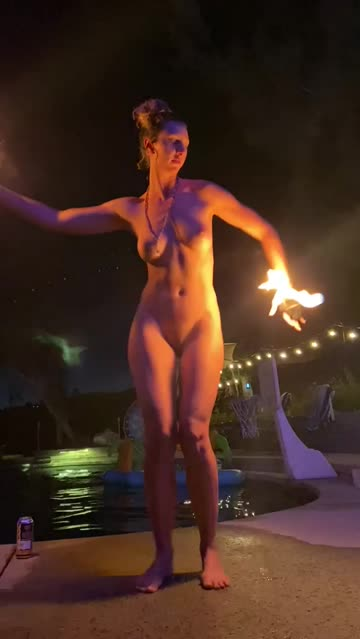 my first time fire dancing