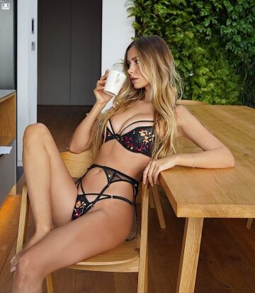 lounging in lingerie