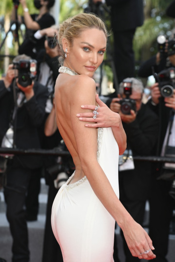 candice swanepoel at the cannes festival