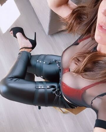 high heels and leather