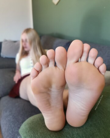 first, lick my feet till they're all wet. then, fuck them.