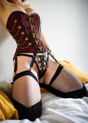 new fishnet stockings and corset!