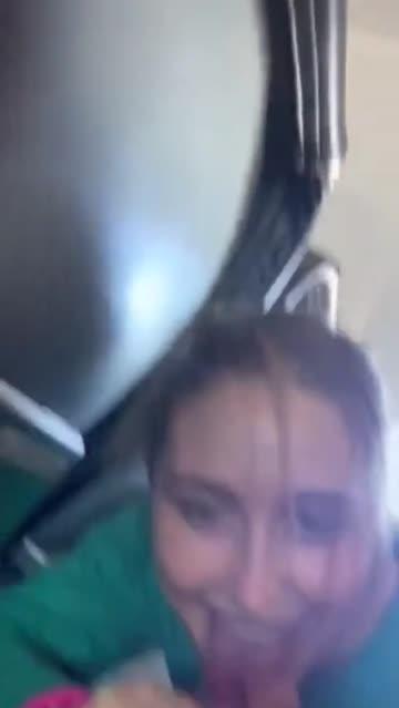 blowjob on a plane
