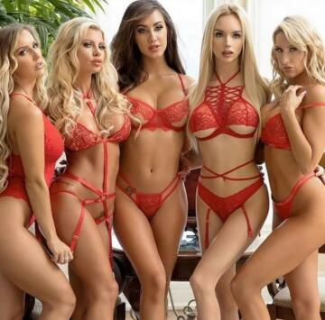 ladies in red