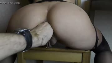 fisting her well used asshole