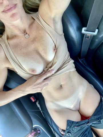 it may not be target this time around, but mommy's horny in the parking lot. again. 😈 (f)41