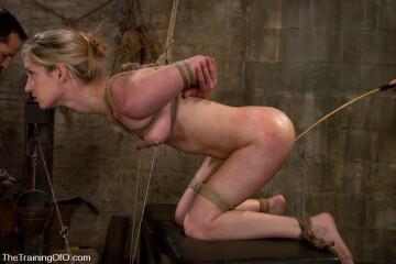half-hanging bondage