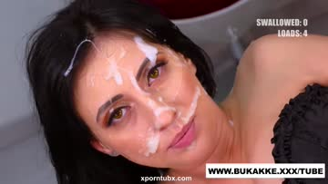 glory hole dick swallower get's facial in bts
