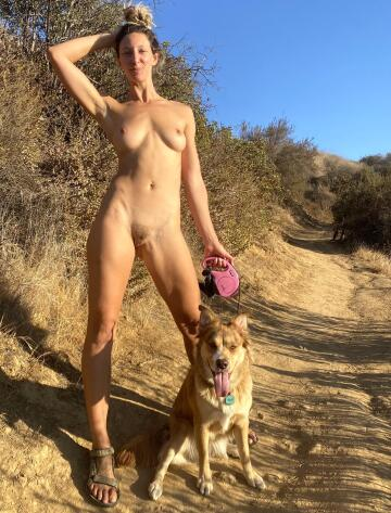 taking my pup for a hike