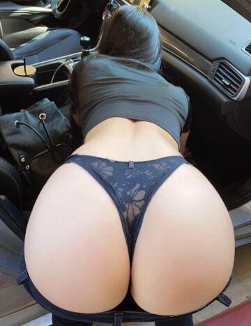 bent over in black