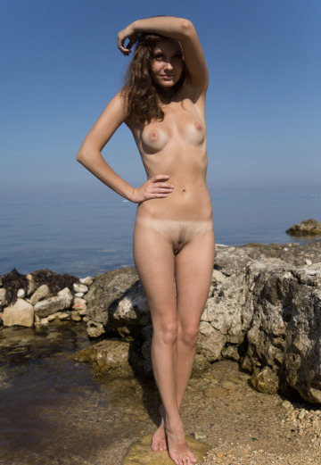 skinny girl with a nice trim