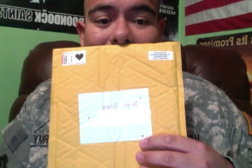 look what was waiting for me when i got home from drill on saturday! thank you victoria rae black!