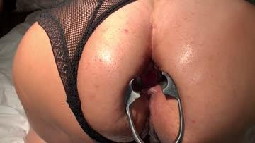 my early anal gape training days. how i am doing?