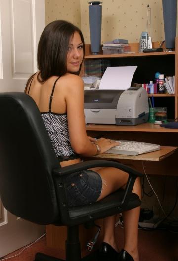 weird typewriter but nice skirt