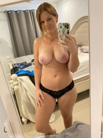 redhead mom! i've gained a few pounds recently... how do i look? [f]