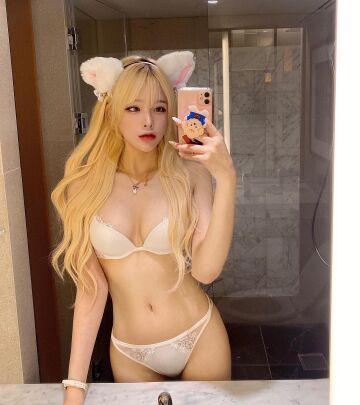 cat girl in lingerie