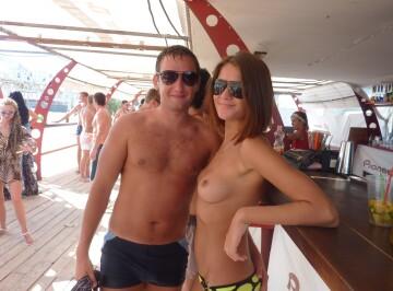 topless in public