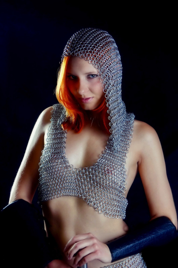 redhead in chain-mail armor
