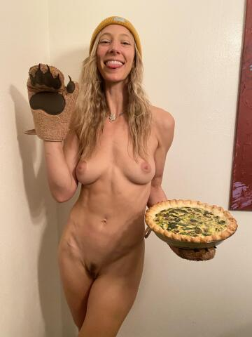 i think cooking naked makes the food taste better