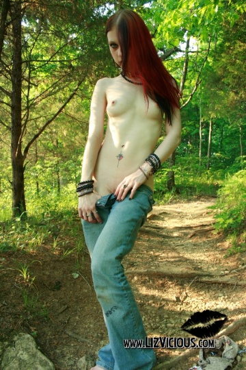 liz vicious in the woods