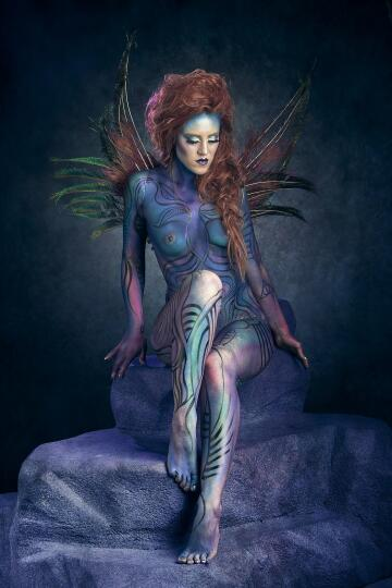 peacock bodypaint i did a few weeks ago.
