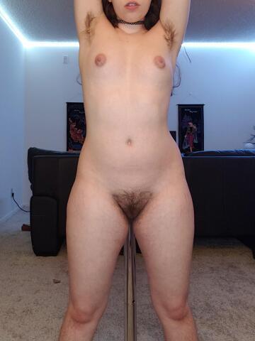 very hairy pole gal ;)