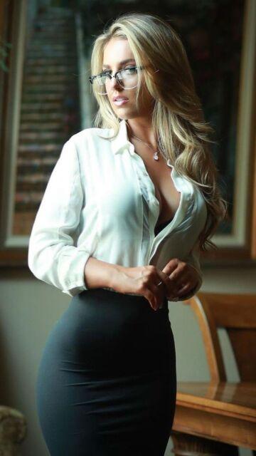 hot blonde in glasses