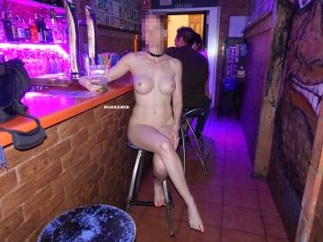i spent quite some time naked in this small bar in spain last summer. i love to be naked and free anywhere and whenever i can!