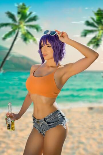 major kusanagi on the beach
