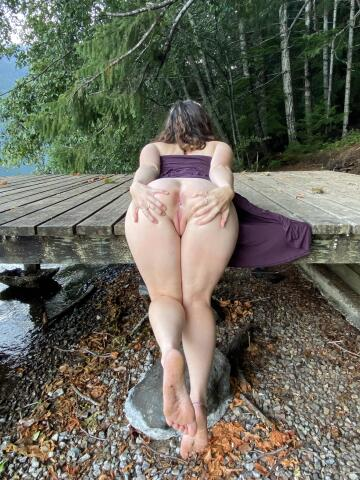 my new favorite position is bent over random things in nature