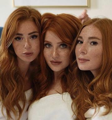 three redhead beauties