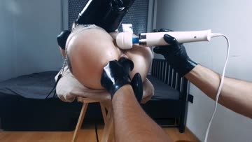 getting my asshole stretched with an array of buttplugs to get it ready for sir's cock