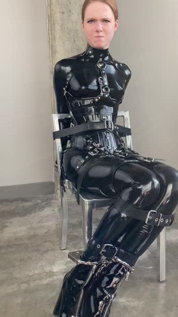 it's shiny, it's bondage, it's pouty