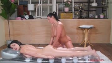 big tits lesbian massage ,angela white, jade baker.