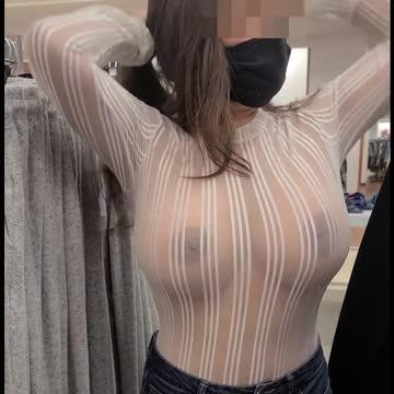 busty milf shopping