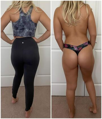 pre and post pilates backside view of this 25[f] wifey :)