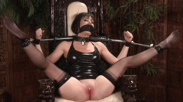 angela sommers gagged and spread wide open