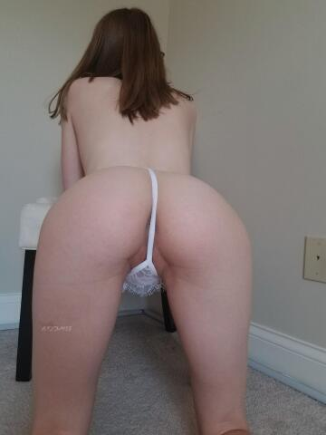 [f] this tiny thong barely covers anything.