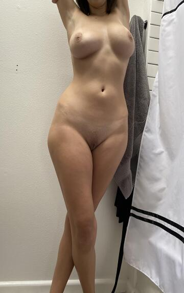 who wants to join her in the shower?